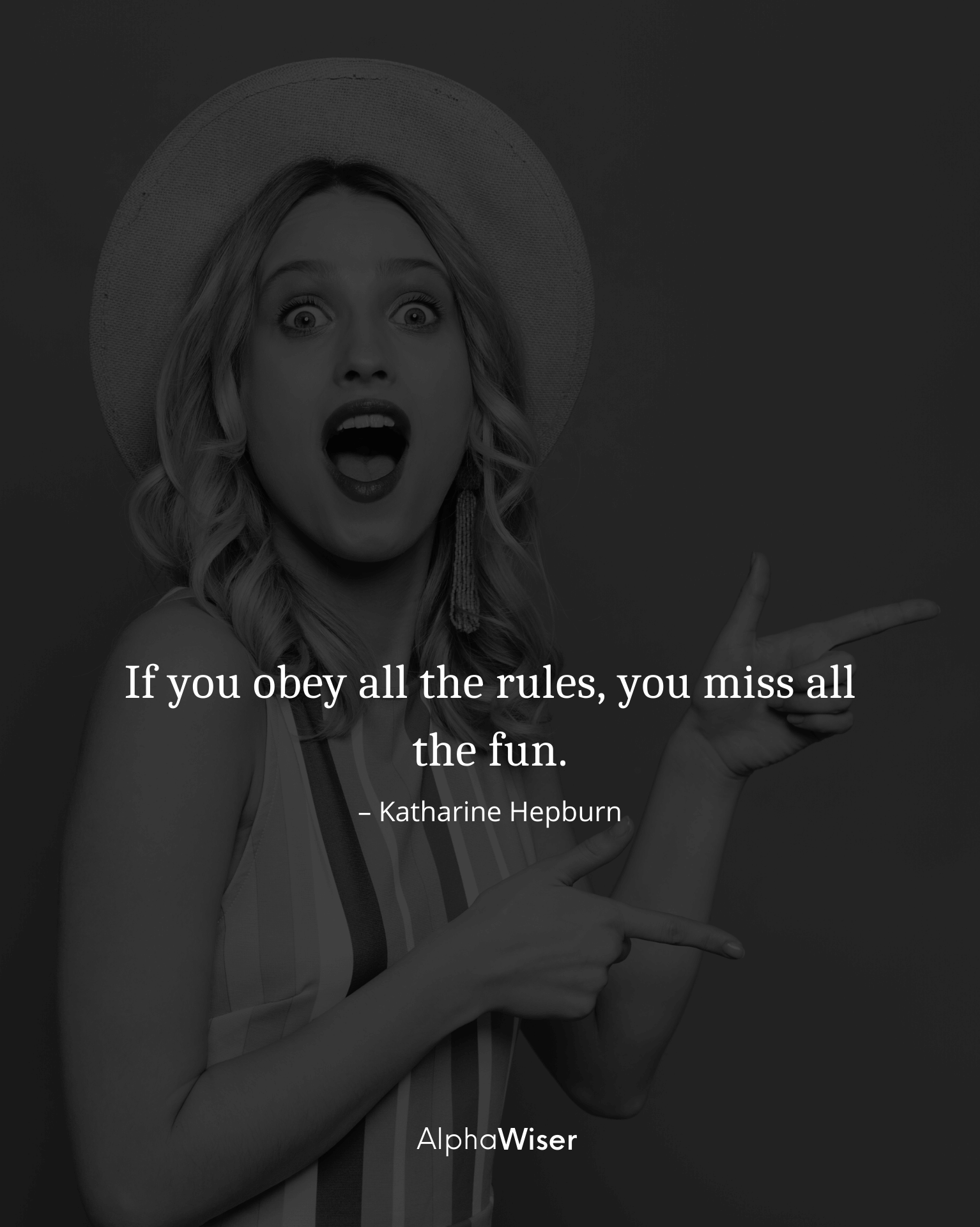 If you obey all the rules, you miss all the fun.